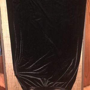 Ladies black velvet skirt